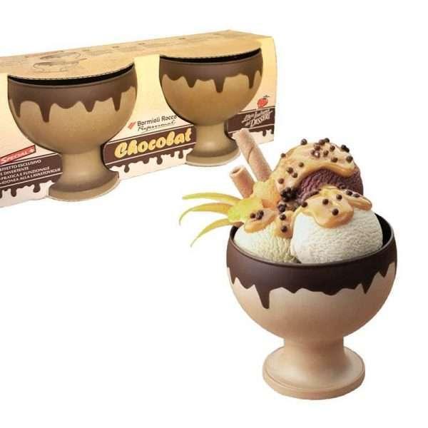 "Set 2 Copas Helado ""Chocolat"""