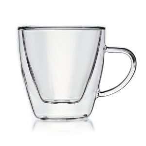 Set 6 tazas café de cristal borosilicato 8cl