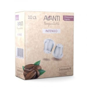 caja de 10 capsulas compatibles Nespresso intenso compostables