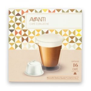 cápsulas de café con leche marca avanti