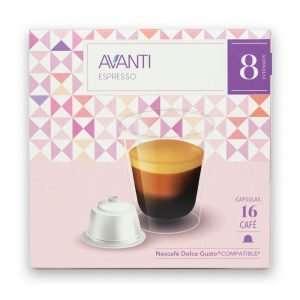 cápsulas de café espresso marca Avanti