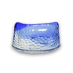 Bandejita de cristal cobalto rectangular